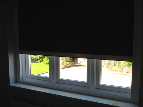 Fully cassetted roller blinds sandhurst berkshire Motorized blackout shades with side channels